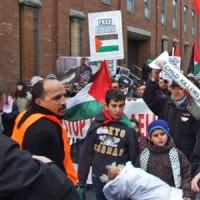 Protesta mītiņš Dublinā