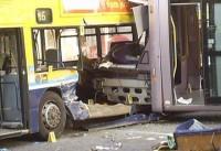 Autobusa un tramvaja sadursme Dublinas centrā