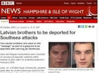 No Lielbritānijas deportē divus notiesātus latviešus