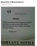 Pidžamu valkātāji netiks ielaisti sociālajā dienestā?