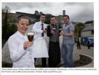 Īru kafijas gatavošanas čempionāta finālistu vidū arī bārmene no Latvijas