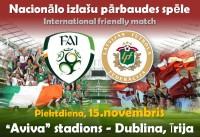 Latvijas futbola izlase jau Dublinā - video (papildināts)