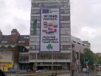 Dublinas centrā visu jūniju atgādinās par lielākās ES paplašināšanās 10.gadadienu