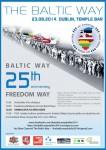 Sestdien Dublinā notiks Baltijas ceļa 25. gadadienas atceres pasākumi