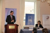 ĀM politiskais direktors E. Stiprais Dublinā uzstājas ar lekciju par Latvijas prezidentūras prioritātēm