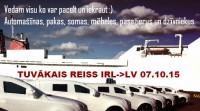 Pārvadājumi Īrija - Latvija - Īrija