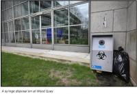 Plāno visā Dublinā izvietot šļircēm paredzētas atkritumu tvertnes