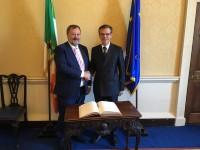 Vēstnieks apmeklē Īrijas parlamenta vadošās amatpersonas