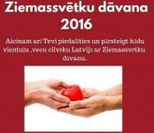 Aicinājums piedalīties Ziemassvētku labdarības akcijā