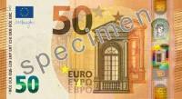 Nākamnedēļ apgrozībā nonāks jaunās 50 eiro banknotes