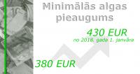 No 2018. gada minimālā alga Latvijā būs 430 eiro mēnesī