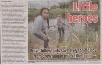 Tullow lepojas ar 11 gadus vecās Kristas varoņdarbu