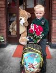 Latviešu bērnu pirmā skolas diena īru skolās