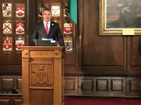 Valsts svētku pieņemšana Dublinas mēra rezidencē