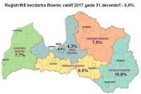 Latvijā reģistrētā bezdarba līmenis decembrī pieaudzis līdz 6,8%