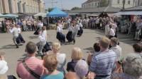 Novadu svētkos Rīgas Centrāltirgū dejo Īrijas deju kopas