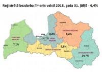 Bezdarba līmenis Latvijā jūlija beigās saglabājies 6,4% apmērā