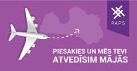 Aizpildi anketu un laimē apmaksātu aviobiļeti uz Latviju