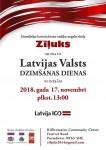Latvijas Valsts Dzimšanas dienas svinības Portadown