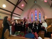 Kristus apvienotās draudzes valsts svētkiem veltītais dievkalpojums