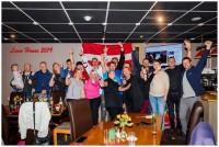 Latvieši Belfāstā atbalsta Latvijas izlasi