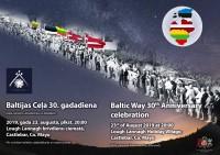 """Akcijai """"Baltijas ceļš"""" šogad 30 gadu jubileja"""