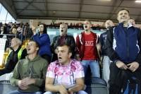 """Neskatoties uz aizliegumu ienest bungas, """"Riga"""" FC fani bija dzirdami"""