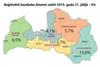 Jūlijā Latvijā bezdarba līmenis palicis nemainīgs