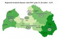 Reģistrētā bezdarba līmenis Latvijā pagājušā gada beigās sasniedza 6,2%