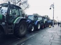 Dublinas centrā turpinās lauksaimnieku protesti