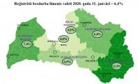 Reģistrētā bezdarba līmenis Latvijā janvārī pieaudzis līdz 6,4%