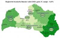 Reģistrētā bezdarba līmenis Latvijā maija beigās sasniedzis 8,4%