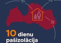 Latvijā samazina pašizolācijas termiņu līdz desmit dienām