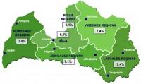 Reģistrētā bezdarba līmenis Latvijā septembra beigās sarucis līdz 7,7%