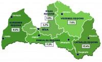 Reģistrētā bezdarba līmenis Latvijā decembrī sasniedzis 7,7%