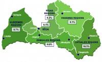 Reģistrētā bezdarba līmenis Latvijā martā palicis nemainīgs - 8,2%
