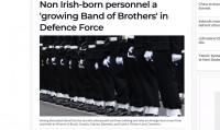 Īrijas aizsardzības spēku rindas papildina arī tie, kas nav dzimuši Zaļajā salā