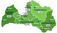 Latvijā reģistrētā bezdarba līmenis aprīlī sarucis par 0,3%