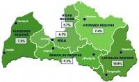 Latvijā reģistrētā bezdarba līmenis samazinājies līdz 7,6%