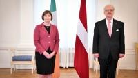 Valsts prezidents akreditē Īrijas vēstnieci Latvijā