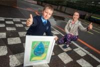 Skolēnu plakātu konkursā junioru grupā uzvar Adrians Bindemans
