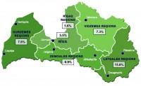 Latvijā reģistrētā bezdarba līmenis samazinājies līdz 7,4%