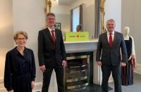 Vēstnieks tiekas ar jauno <em>airBaltic</em> tirdzniecības pārstāvi Īrijā