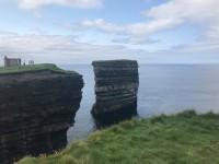 Downpatrick Head satiekas folklora, leģendas un vēsture