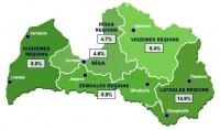 Latvijā reģistrētā bezdarba līmenis samazinājies līdz 6,5%